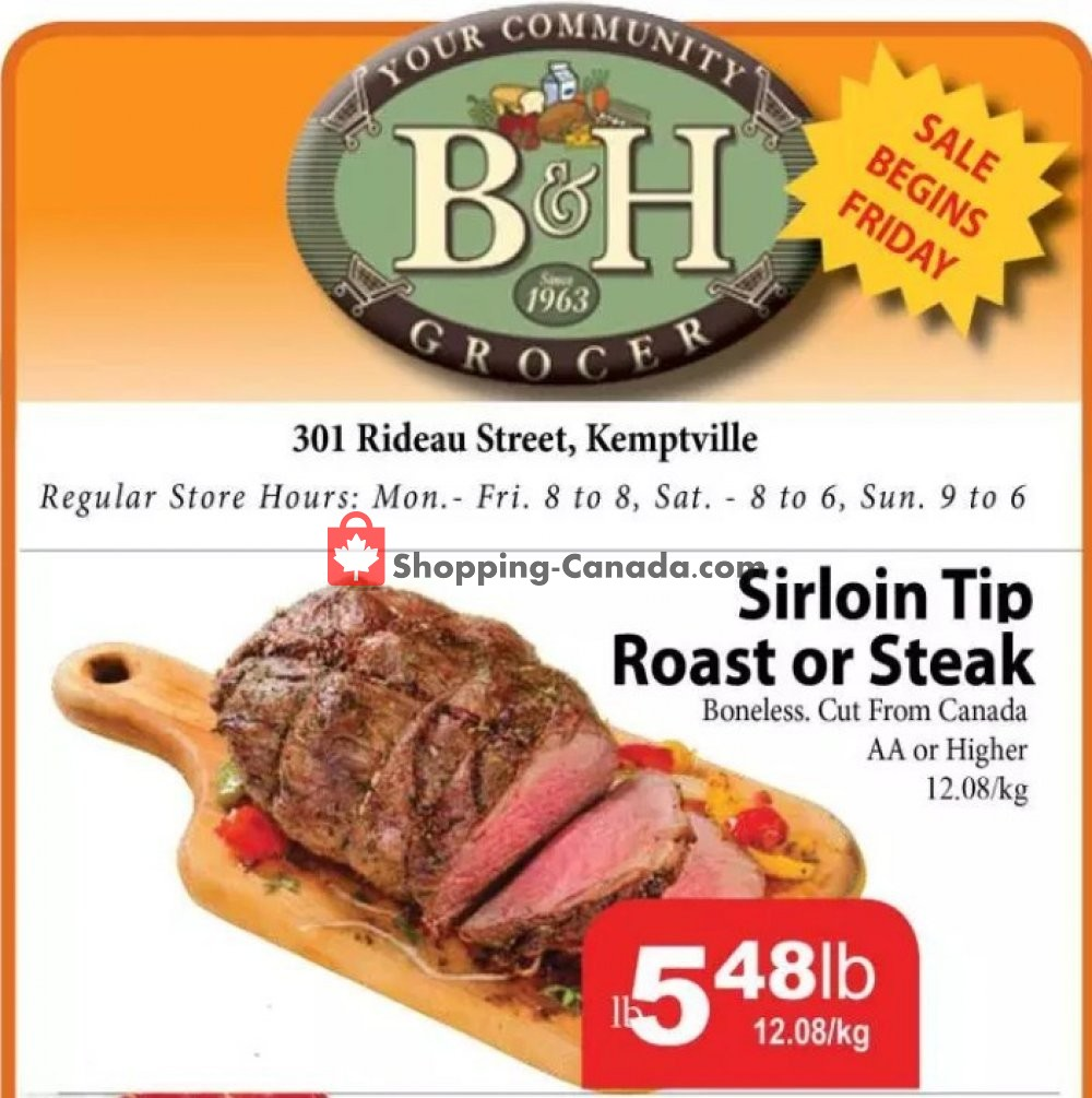Flyer B&H YOUR COMMUNITY GROCER Canada - from Friday October 12, 2018 to Thursday October 18, 2018