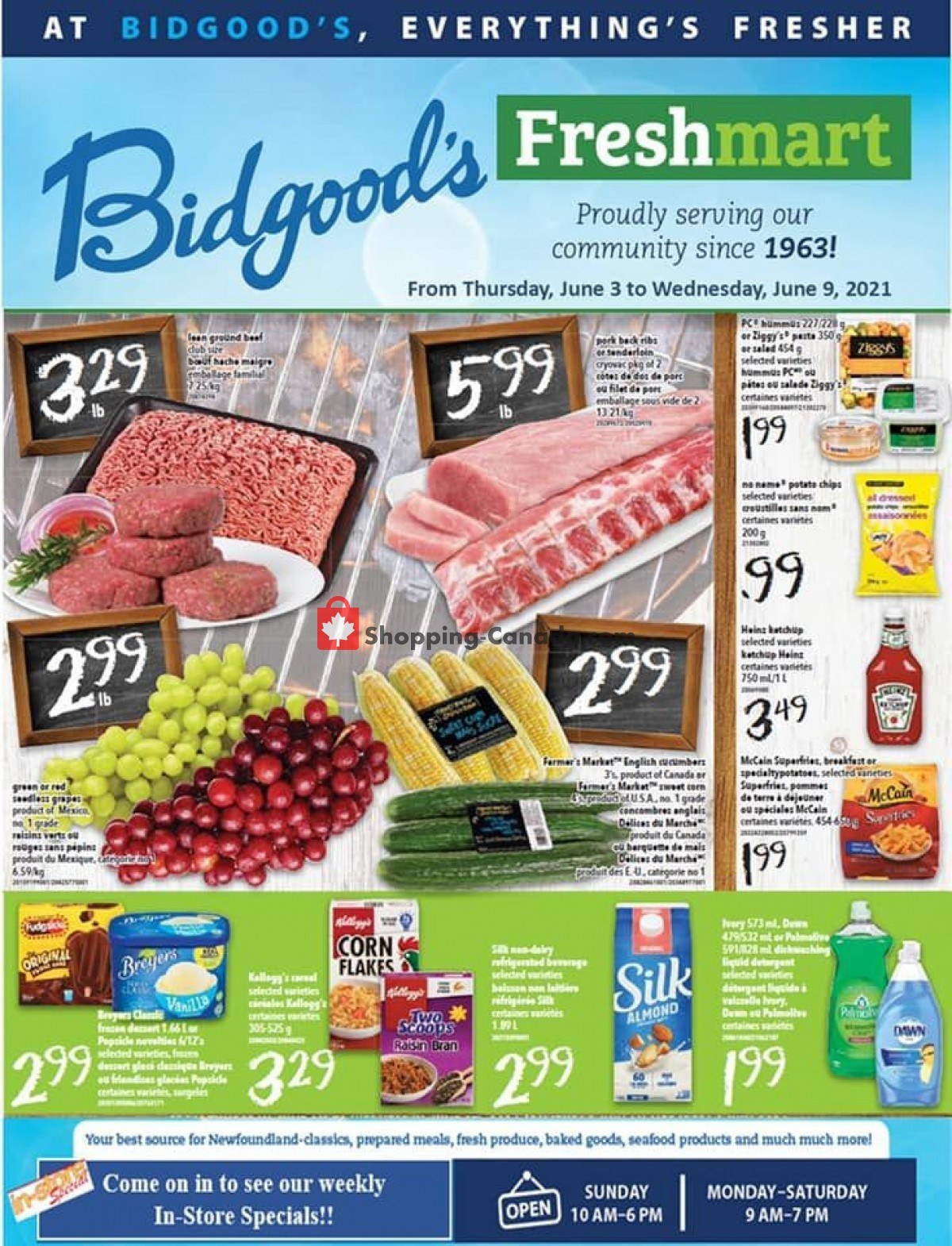 Flyer Bidgood's Supermarket Canada - from Thursday June 3, 2021 to Wednesday June 9, 2021