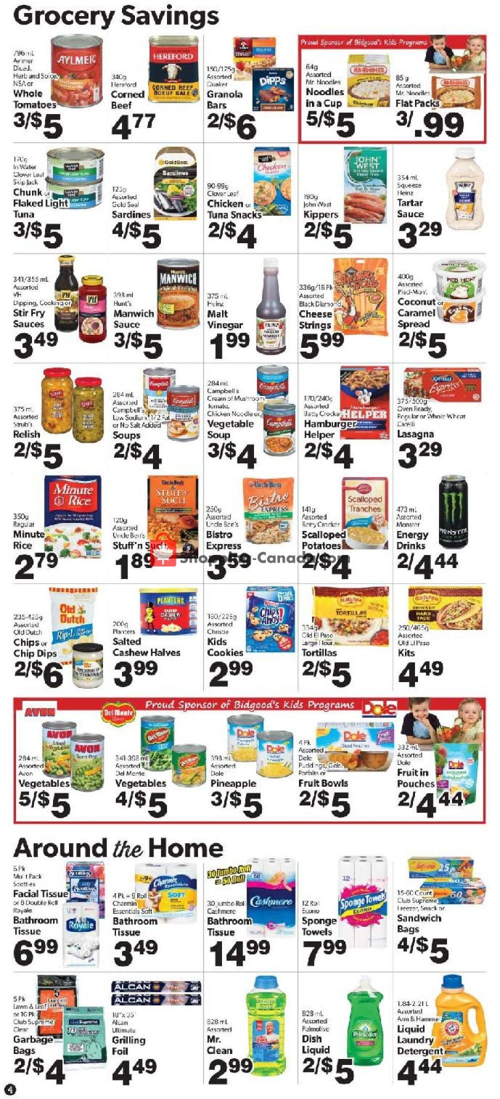 Flyer Bidgood's Supermarket Canada - from Thursday October 3, 2019 to Wednesday October 9, 2019