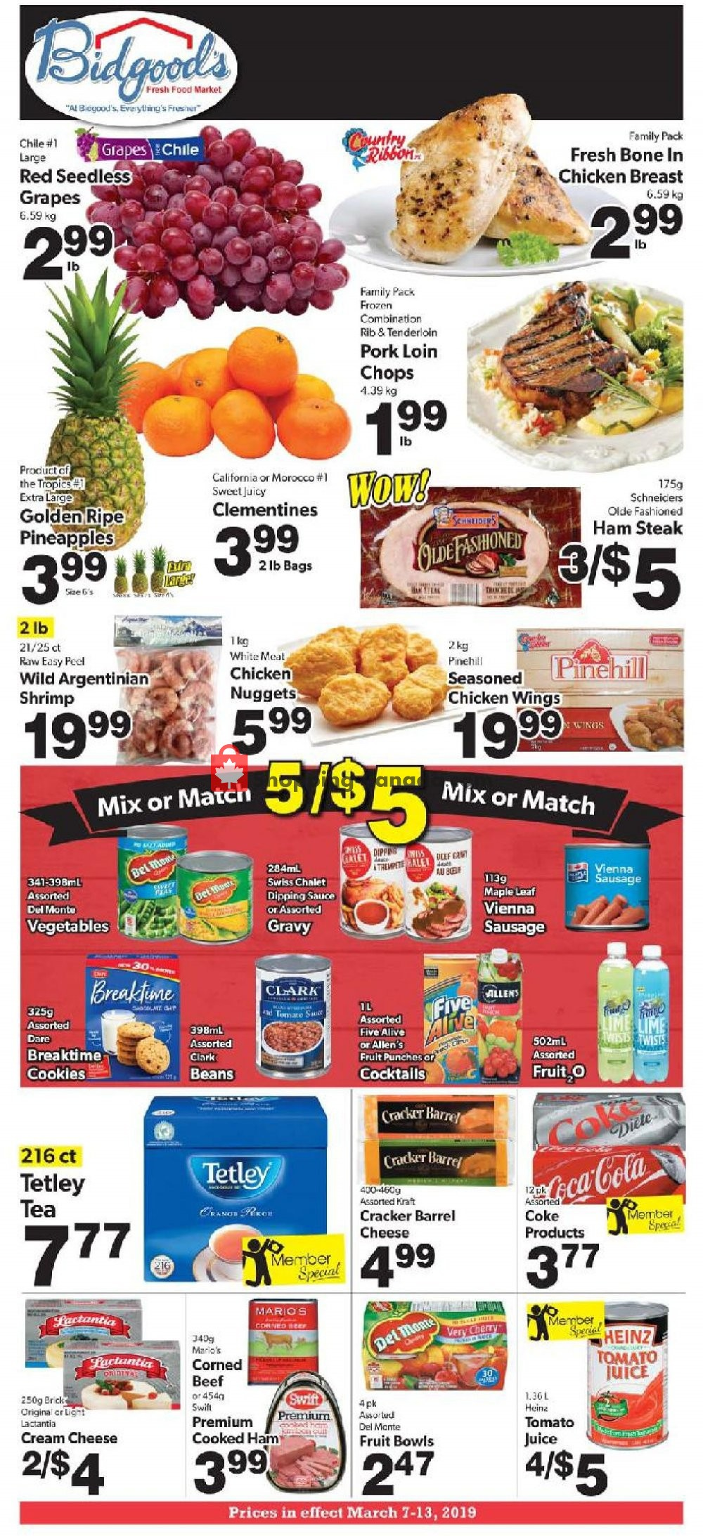 Flyer Bidgood's Supermarket Canada - from Thursday March 7, 2019 to Wednesday March 13, 2019
