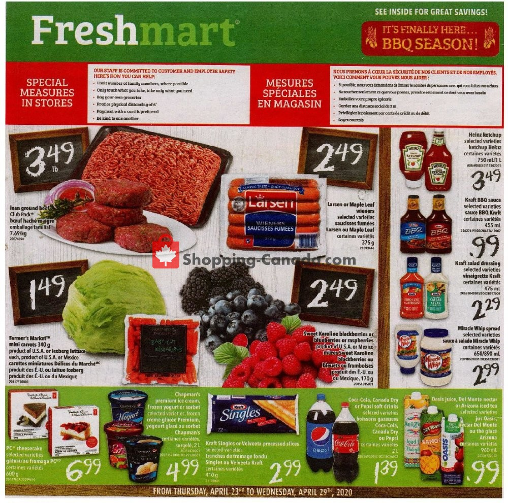 Flyer Bidgood's Supermarket Canada - from Thursday April 23, 2020 to Wednesday April 29, 2020