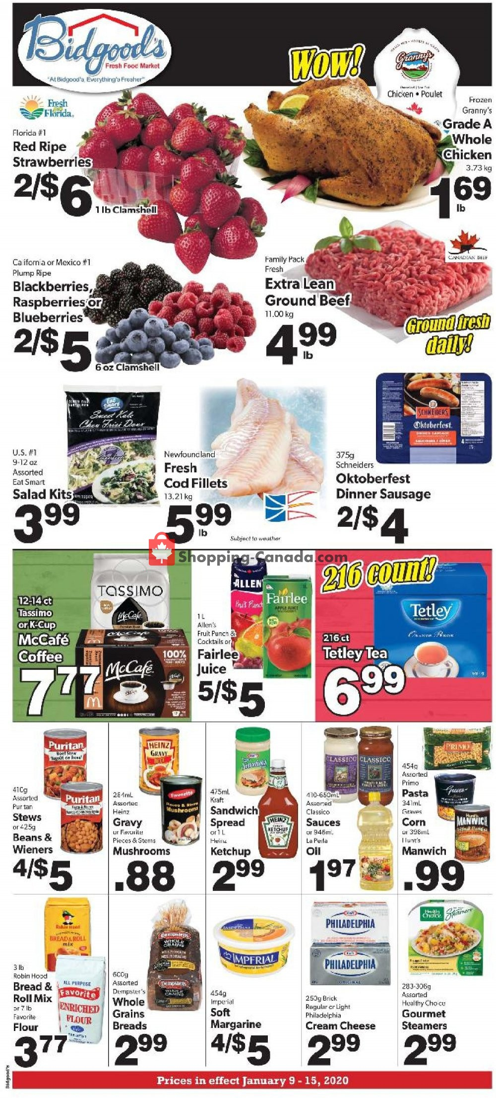 Flyer Bidgood's Supermarket Canada - from Thursday January 9, 2020 to Wednesday January 15, 2020