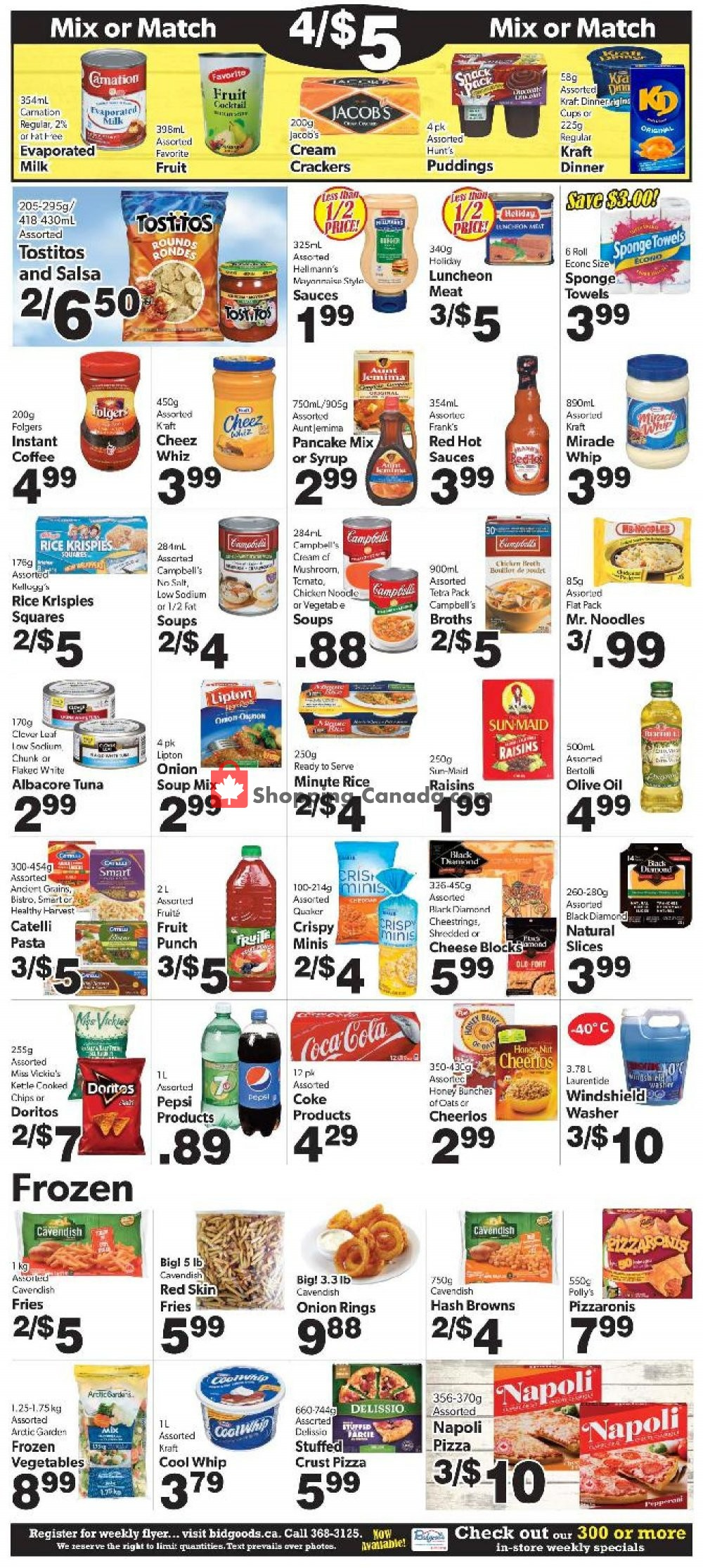 Flyer Bidgood's Supermarket Canada - from Thursday January 9, 2020 to Wednesday January 15, 2020