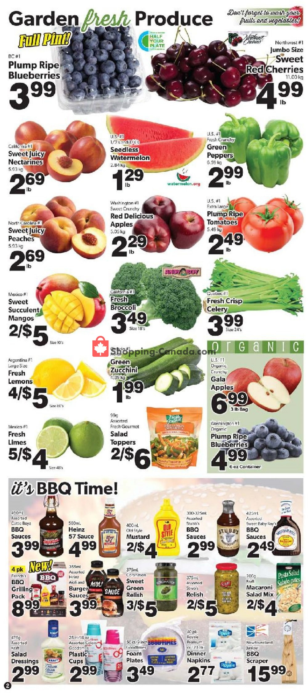 Flyer Bidgood's Supermarket Canada - from Thursday July 11, 2019 to Wednesday July 17, 2019