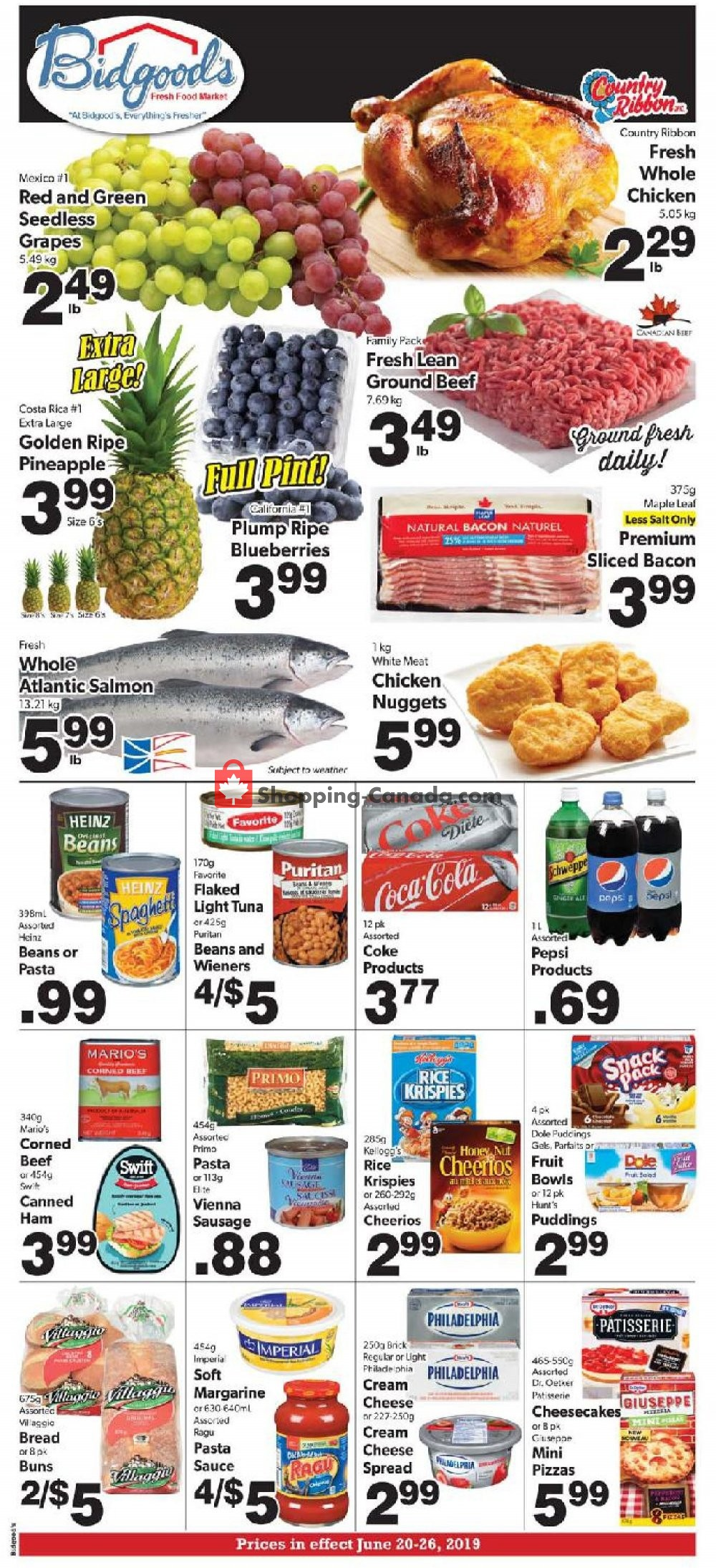 Flyer Bidgood's Supermarket Canada - from Thursday June 20, 2019 to Wednesday June 26, 2019
