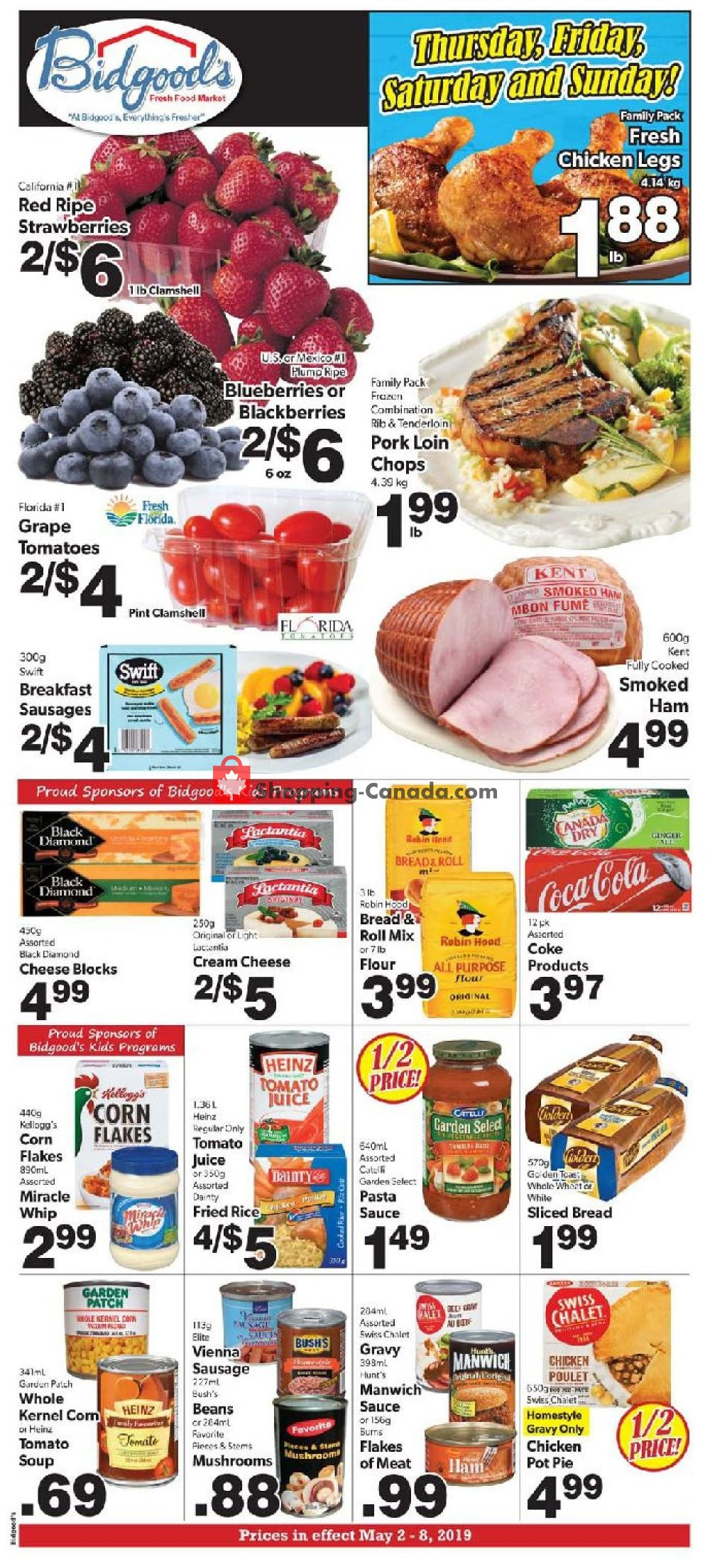 Flyer Bidgood's Supermarket Canada - from Thursday May 2, 2019 to Wednesday May 8, 2019