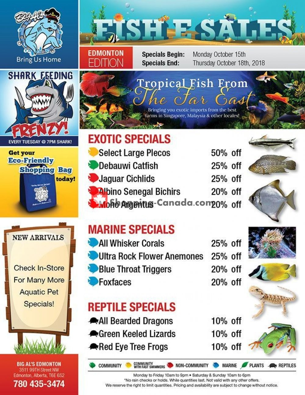 Flyer Big Al's Canada - from Monday October 15, 2018 to Thursday October 18, 2018