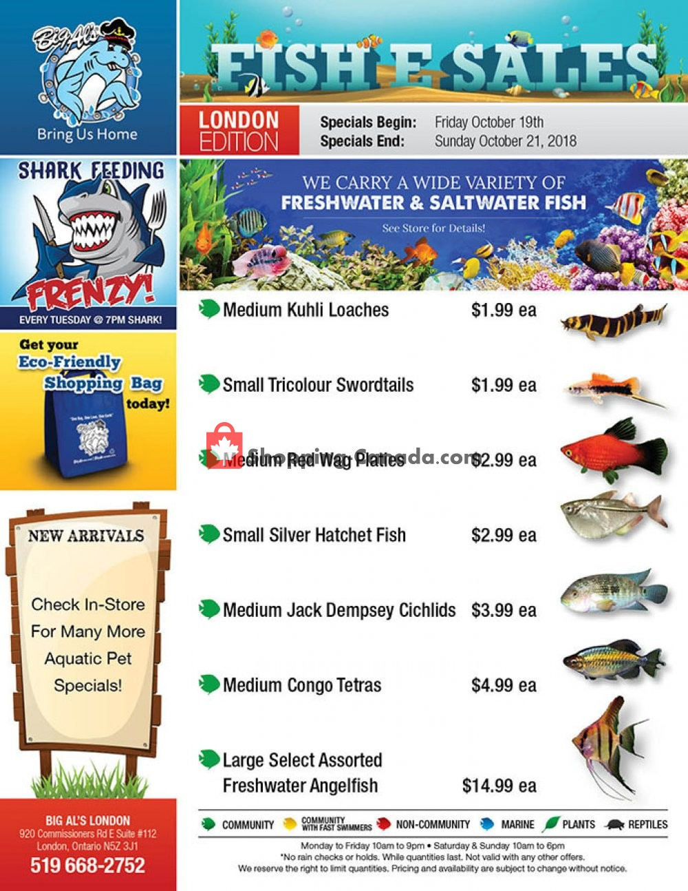 Flyer Big Al's Canada - from Friday October 19, 2018 to Sunday October 21, 2018