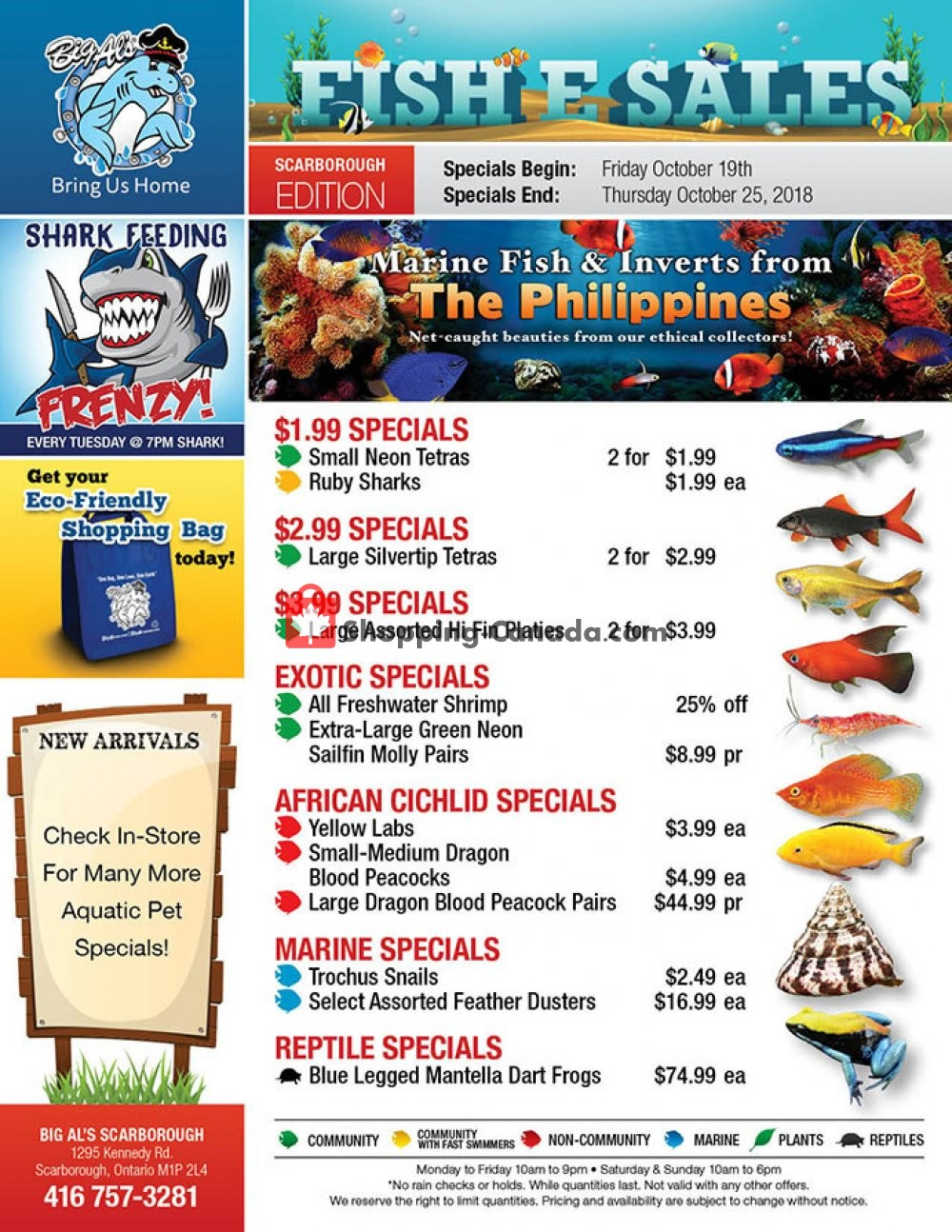 Flyer Big Al's Canada - from Friday October 19, 2018 to Thursday October 25, 2018