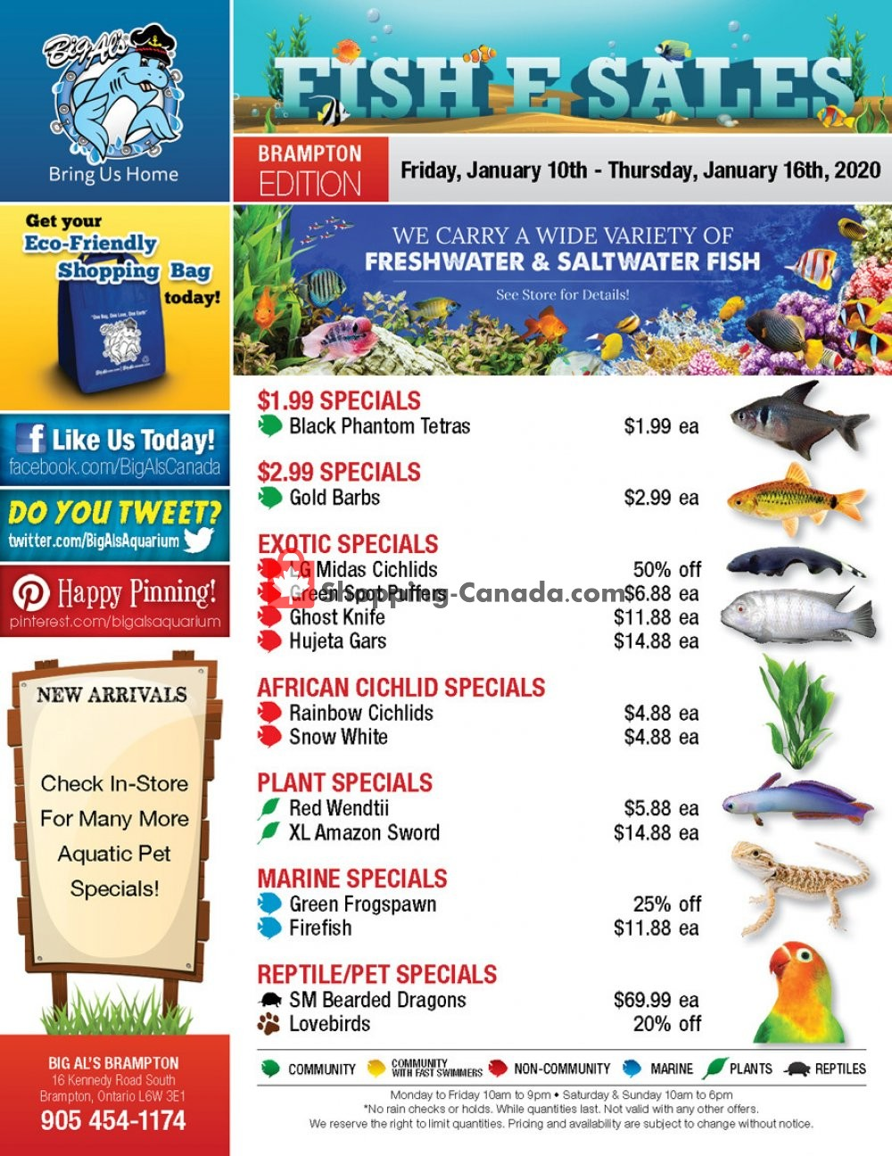 Flyer Big Al's Canada - from Friday January 10, 2020 to Thursday January 16, 2020