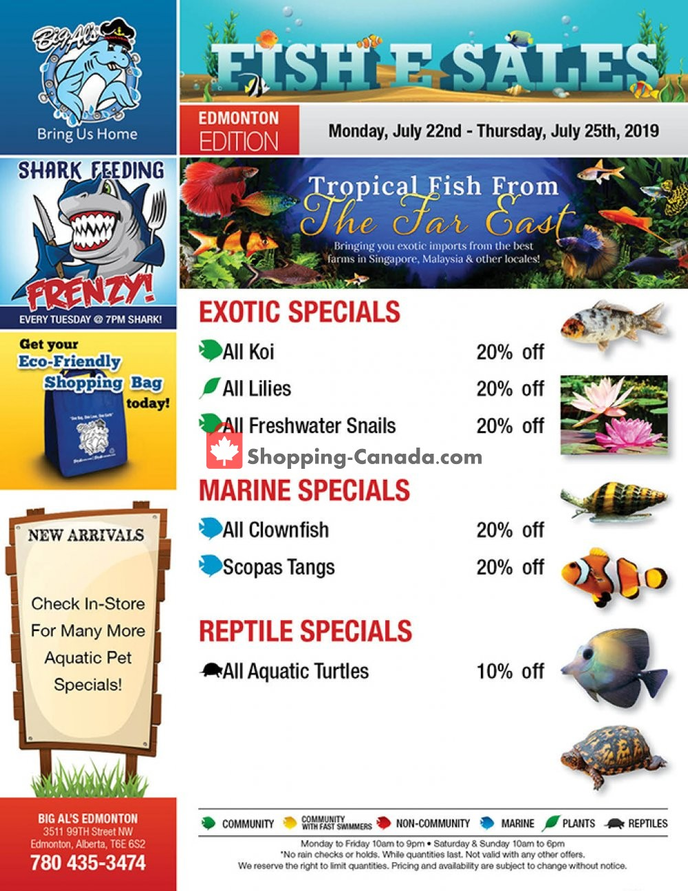 Flyer Big Al's Canada - from Monday July 22, 2019 to Thursday July 25, 2019
