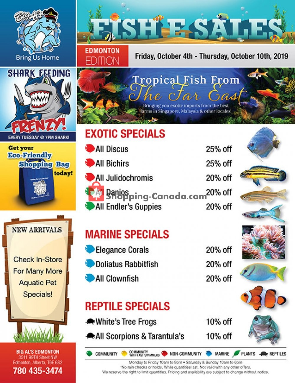 Flyer Big Al's Canada - from Friday October 4, 2019 to Thursday October 10, 2019