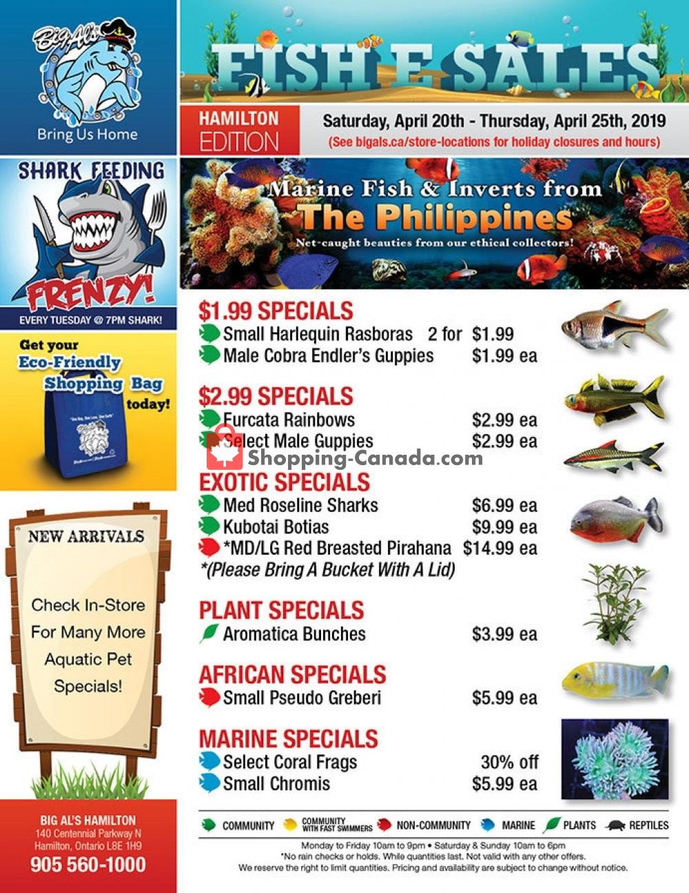 Flyer Big Al's Canada - from Saturday April 20, 2019 to Thursday April 25, 2019