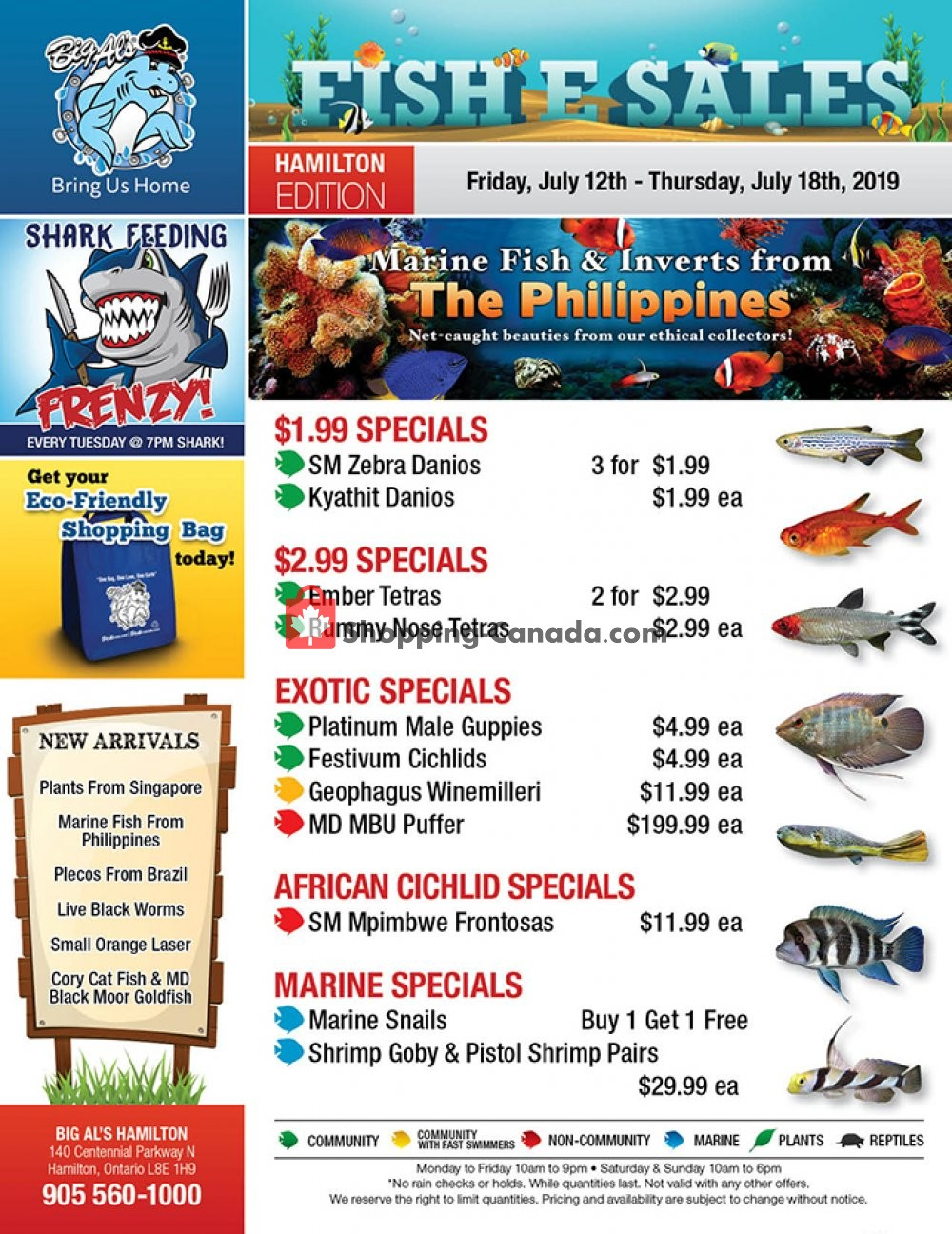 Flyer Big Al's Canada - from Friday July 12, 2019 to Thursday July 18, 2019