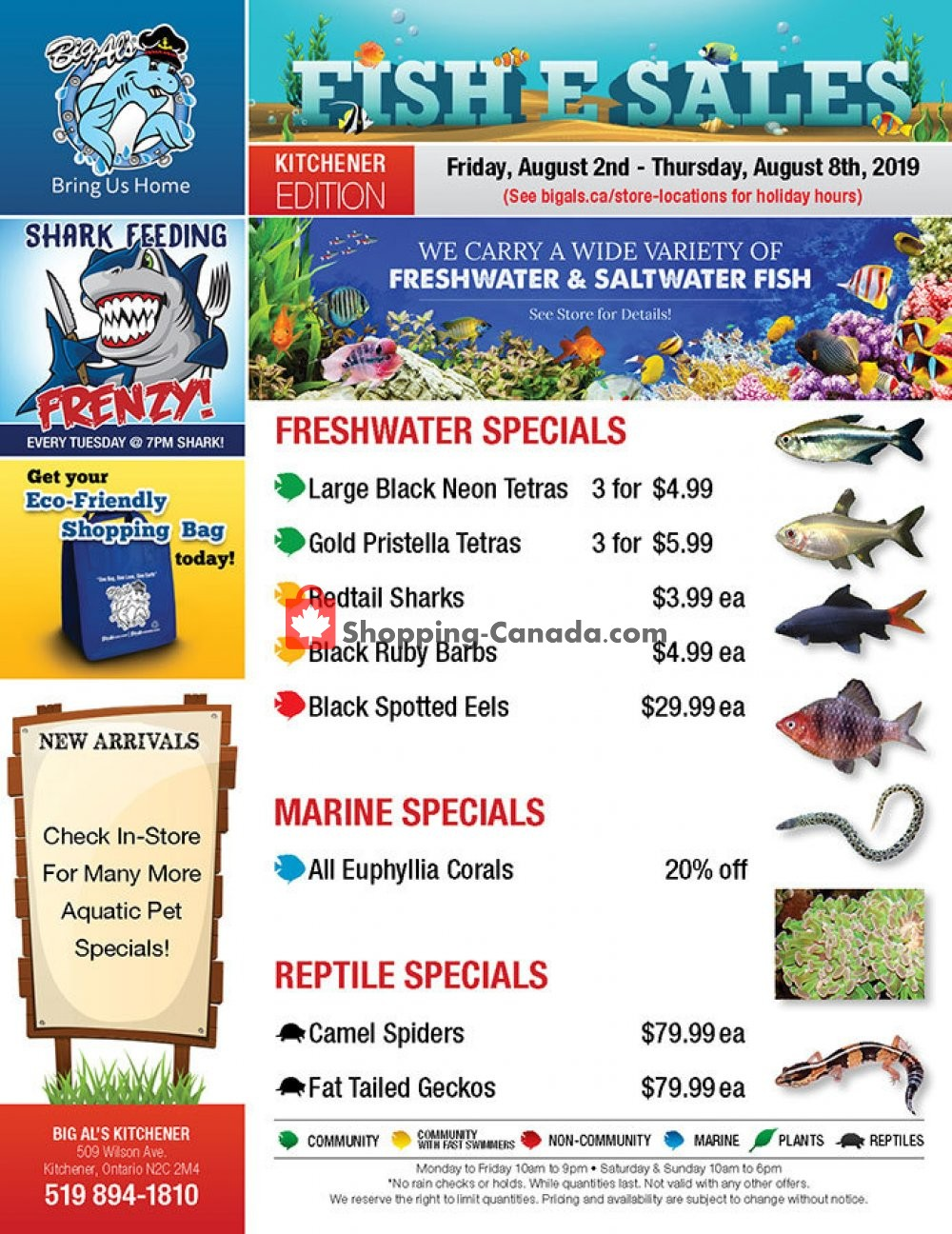 Flyer Big Al's Canada - from Friday August 2, 2019 to Thursday August 8, 2019