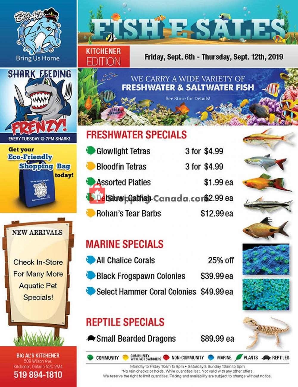 Flyer Big Al's Canada - from Friday September 6, 2019 to Thursday September 12, 2019