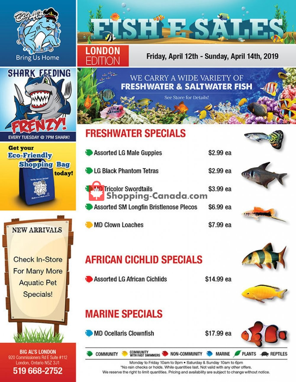 Flyer Big Al's Canada - from Friday April 12, 2019 to Sunday April 14, 2019
