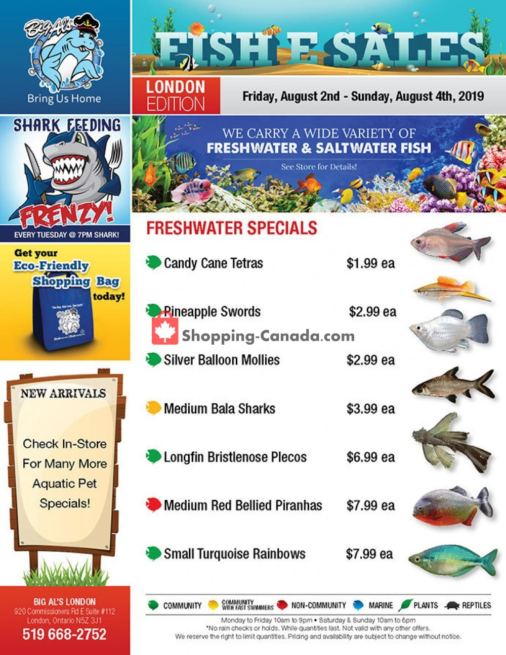 Flyer Big Al's Canada - from Friday August 2, 2019 to Sunday August 4, 2019