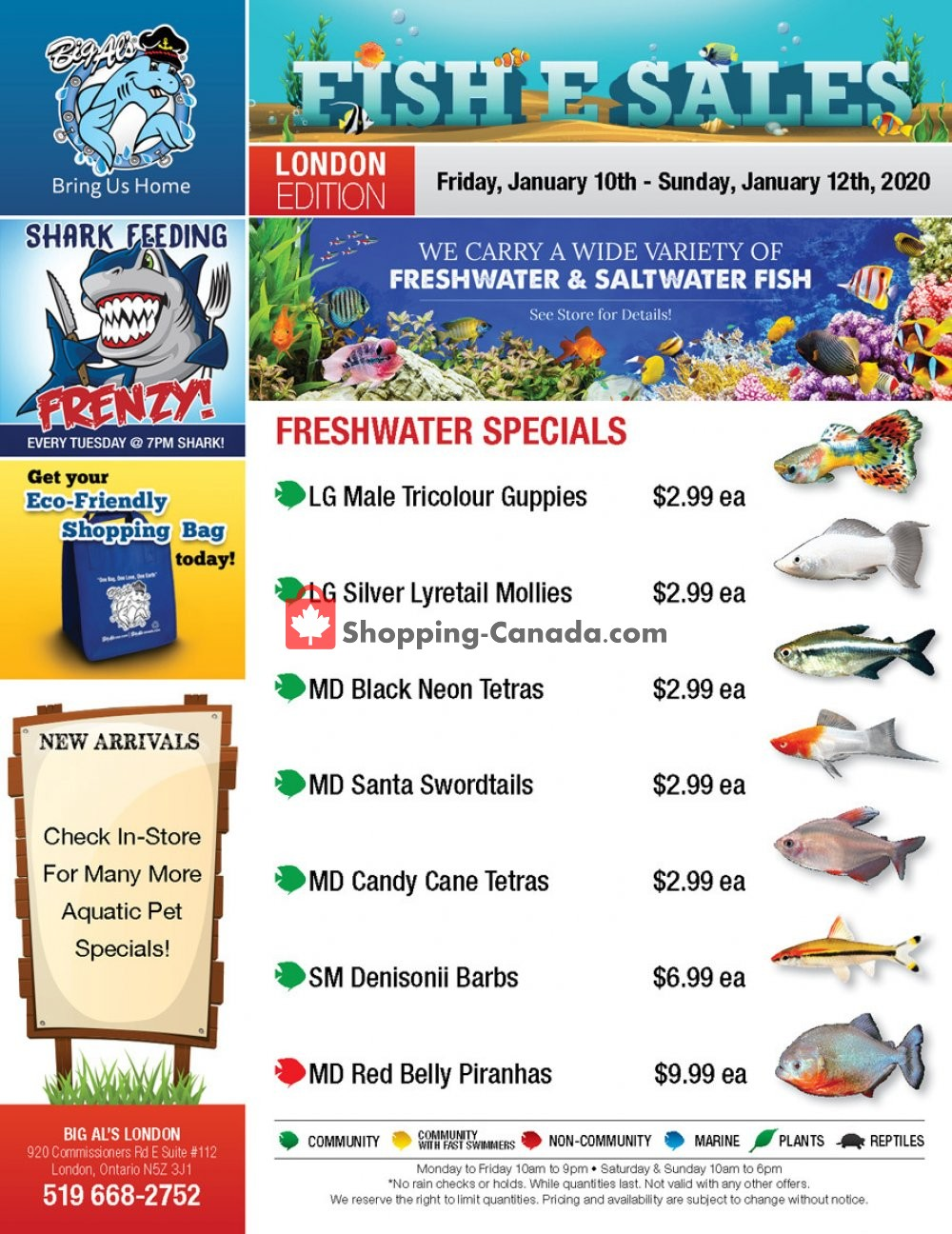 Flyer Big Al's Canada - from Friday January 10, 2020 to Sunday January 12, 2020