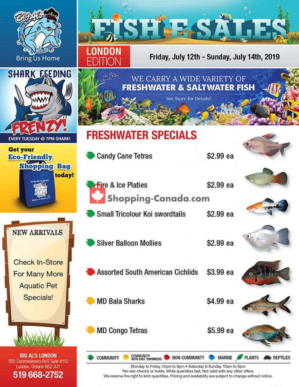 Flyer Big Al's Canada - from Friday July 12, 2019 to Sunday July 14, 2019