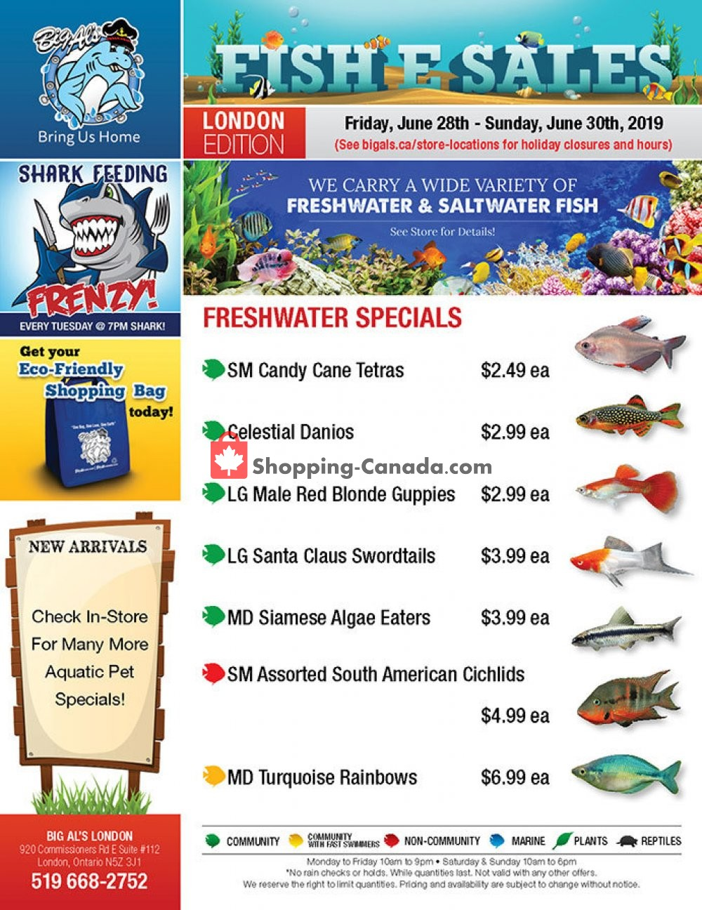Flyer Big Al's Canada - from Friday June 28, 2019 to Sunday June 30, 2019