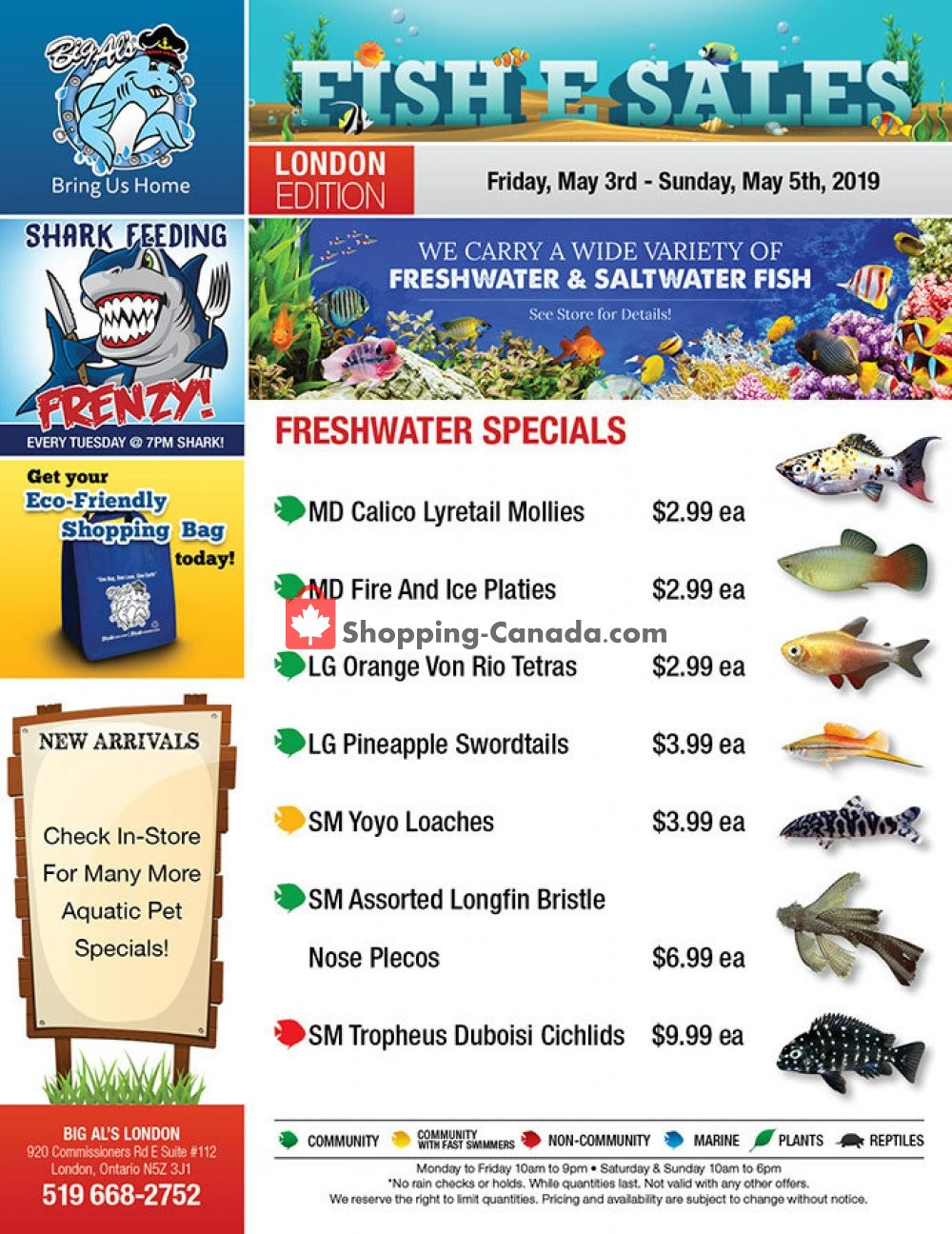Flyer Big Al's Canada - from Friday May 3, 2019 to Sunday May 5, 2019