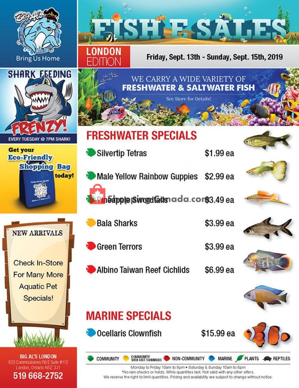 Flyer Big Al's Canada - from Friday September 13, 2019 to Sunday September 15, 2019
