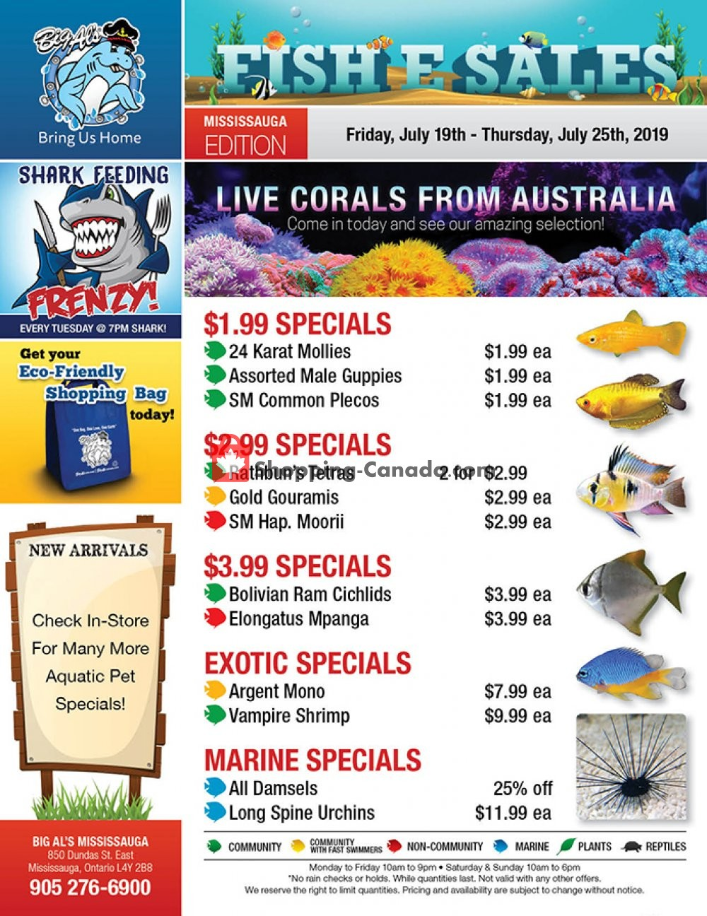 Flyer Big Al's Canada - from Friday July 19, 2019 to Thursday July 25, 2019