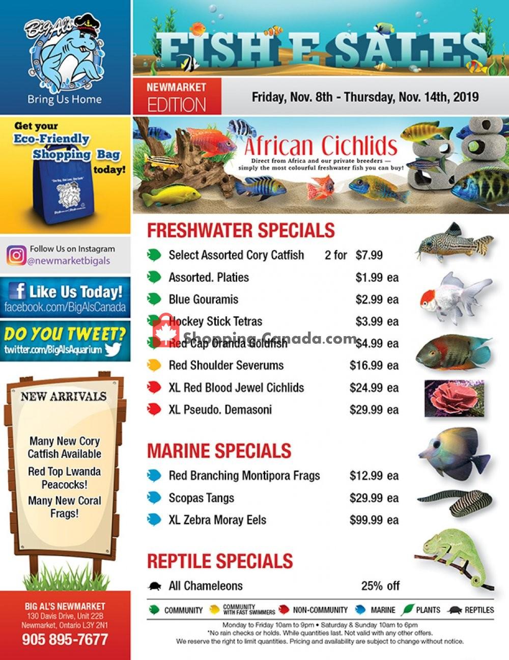 Flyer Big Al's Canada - from Friday November 8, 2019 to Thursday November 14, 2019