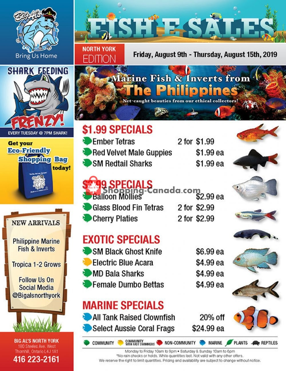 Flyer Big Al's Canada - from Friday August 9, 2019 to Thursday August 15, 2019
