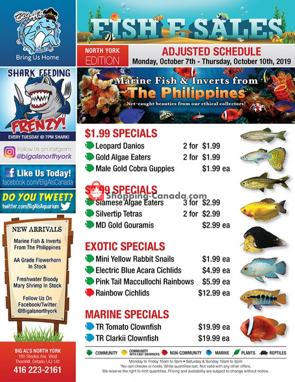 Flyer Big Al's Canada - from Monday October 7, 2019 to Thursday October 10, 2019