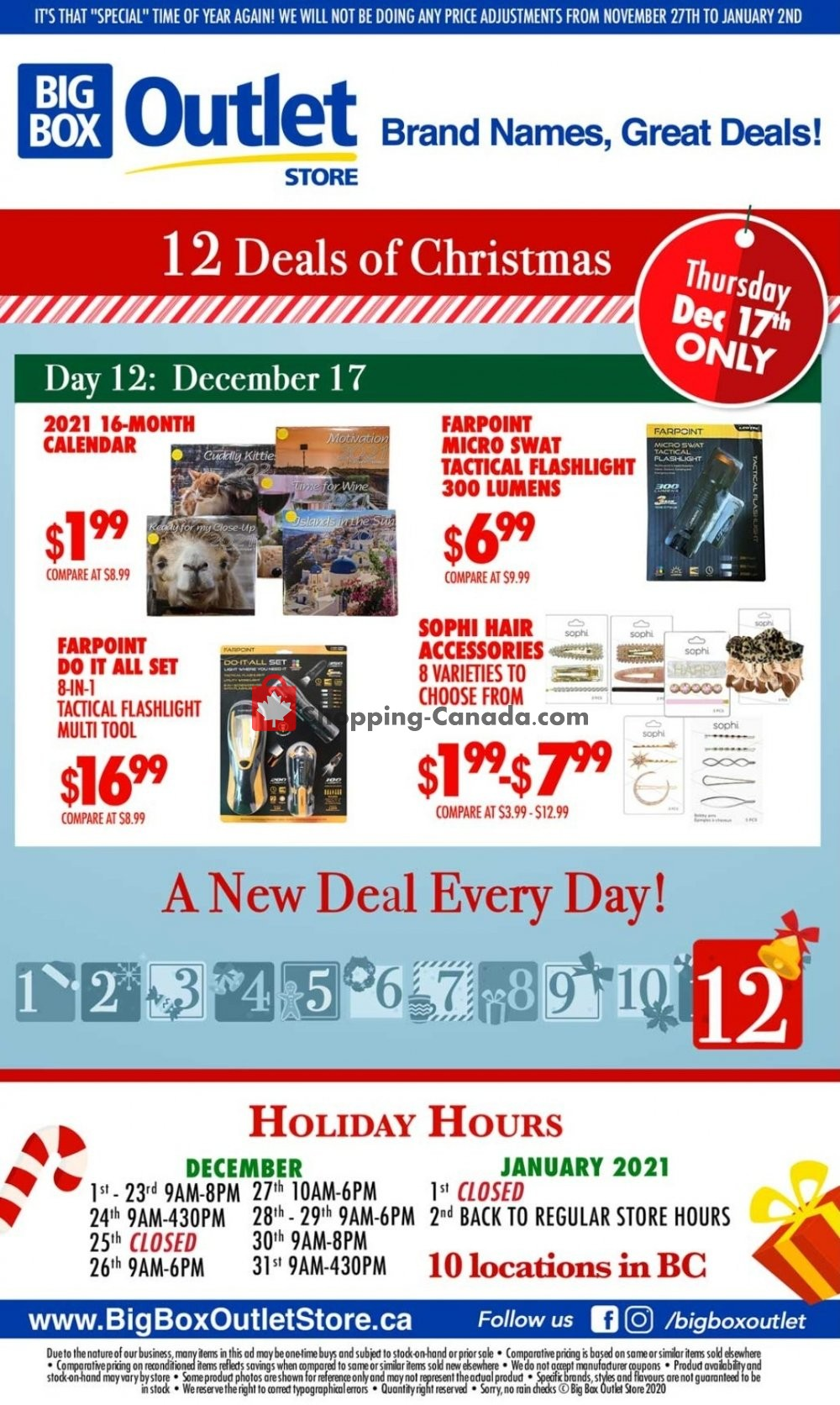 Flyer Big Box Outlet Store Canada - from Thursday December 17, 2020 to Thursday December 17, 2020