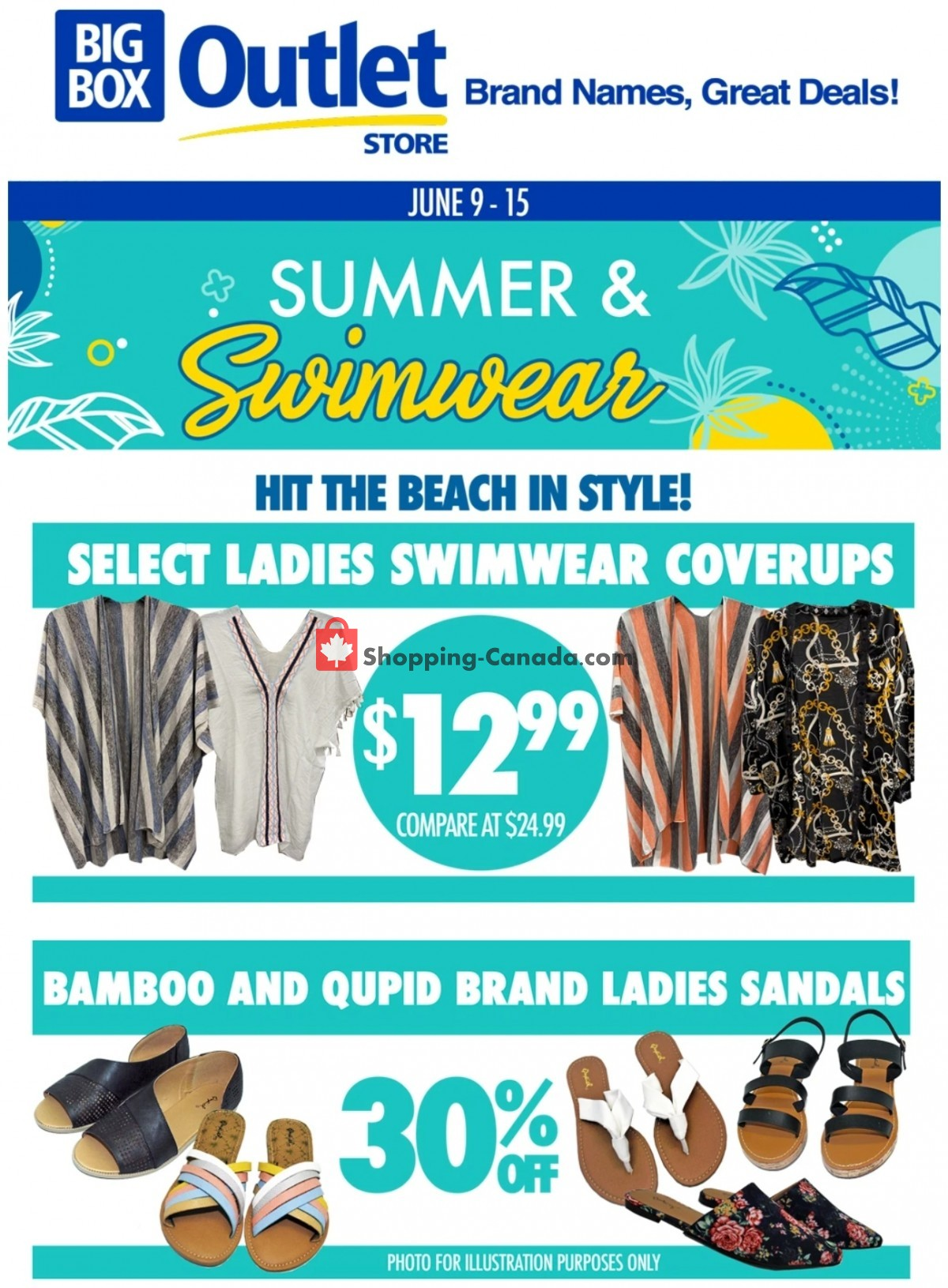 Flyer Big Box Outlet Store Canada - from Wednesday June 9, 2021 to Tuesday June 15, 2021