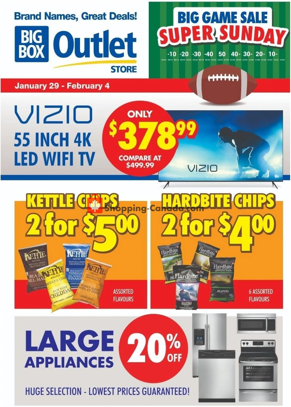 Flyer Big Box Outlet Store Canada - from Wednesday January 29, 2020 to Tuesday February 4, 2020