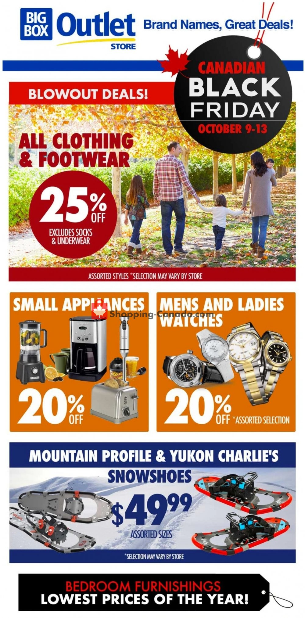 Flyer Big Box Outlet Store Canada - from Friday October 9, 2020 to Tuesday October 13, 2020