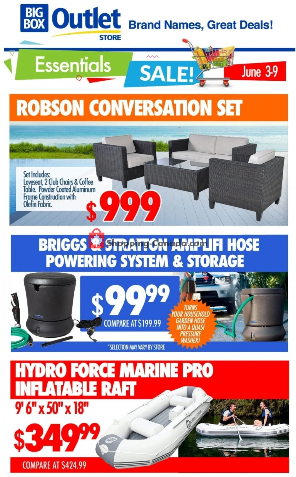 Flyer Big Box Outlet Store Canada - from Wednesday June 3, 2020 to Tuesday June 9, 2020