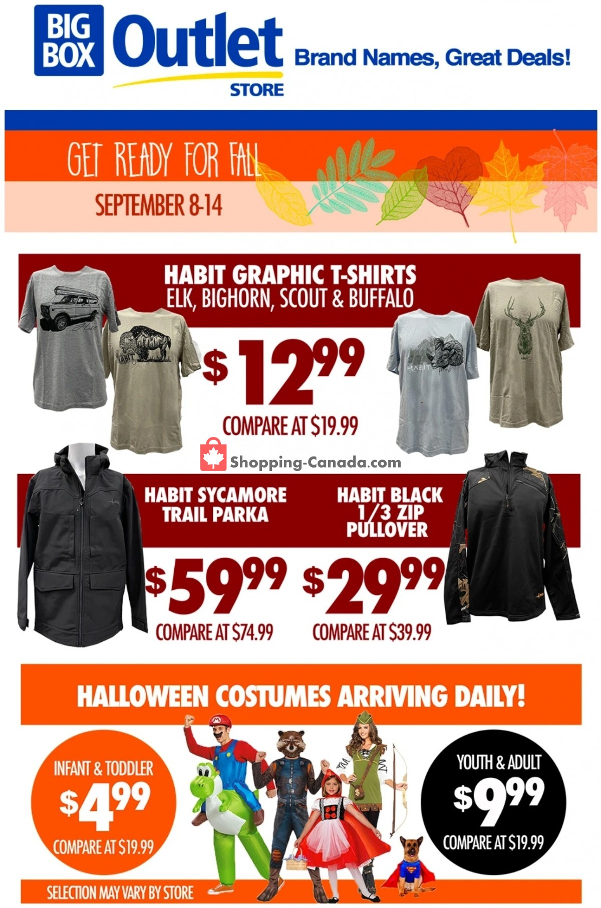 Flyer Big Box Outlet Store Canada - from Wednesday September 8, 2021 to Tuesday September 14, 2021