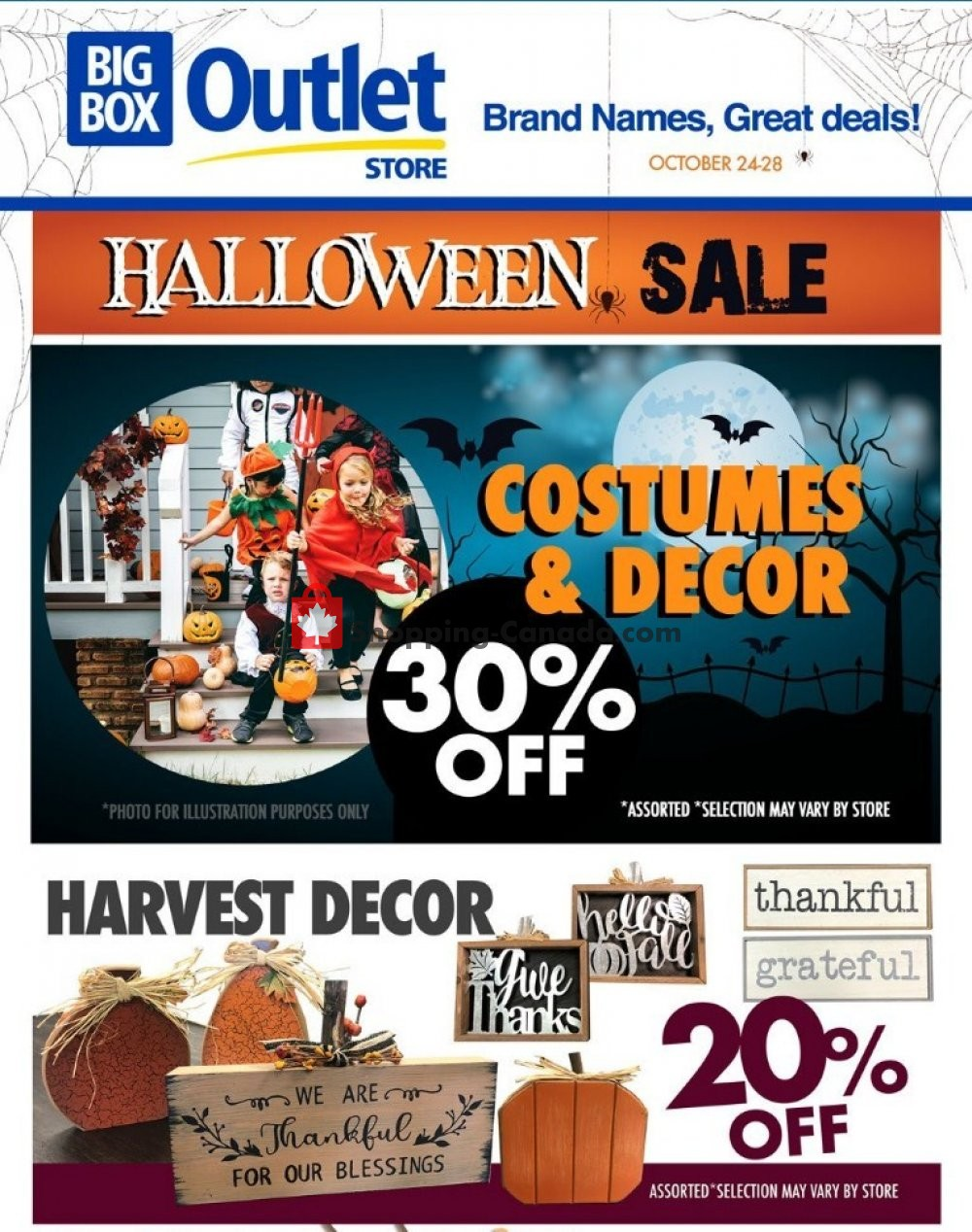 Flyer Big Box Outlet Store Canada - from Wednesday October 24, 2018 to Sunday October 28, 2018
