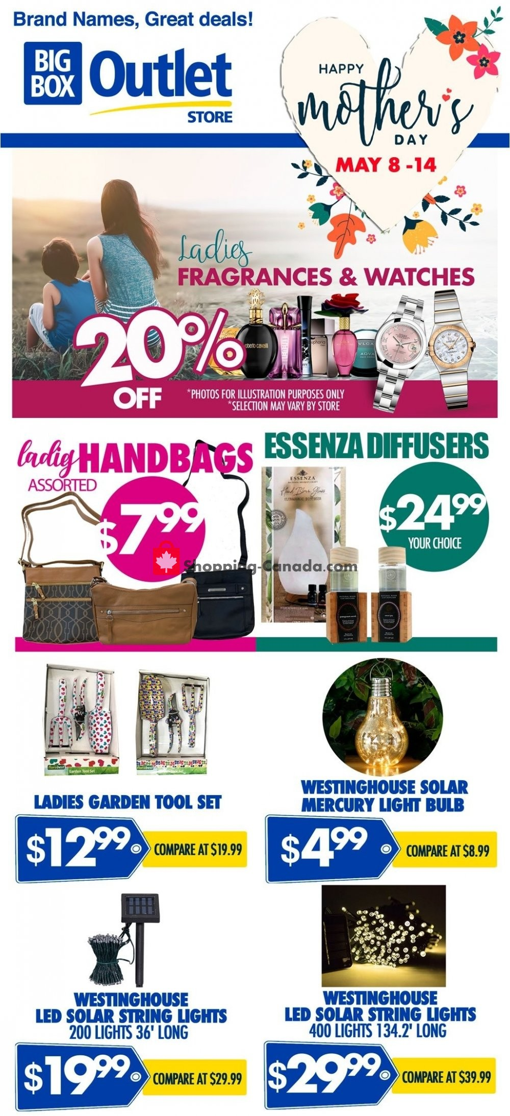 Flyer Big Box Outlet Store Canada - from Wednesday May 8, 2019 to Tuesday May 14, 2019