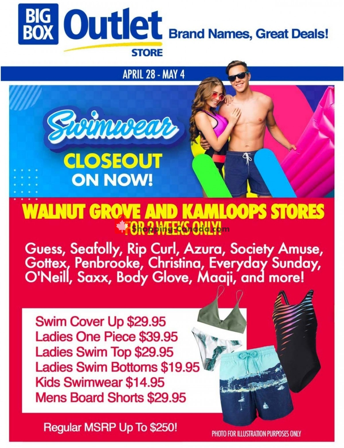 Flyer Big Box Outlet Store Canada - from Wednesday April 28, 2021 to Tuesday May 4, 2021