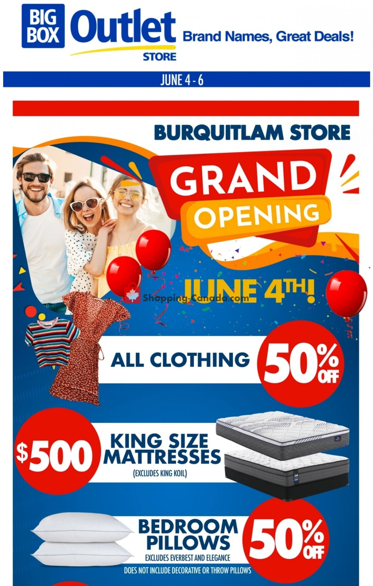 Flyer Big Box Outlet Store Canada - from Friday June 4, 2021 to Sunday June 6, 2021