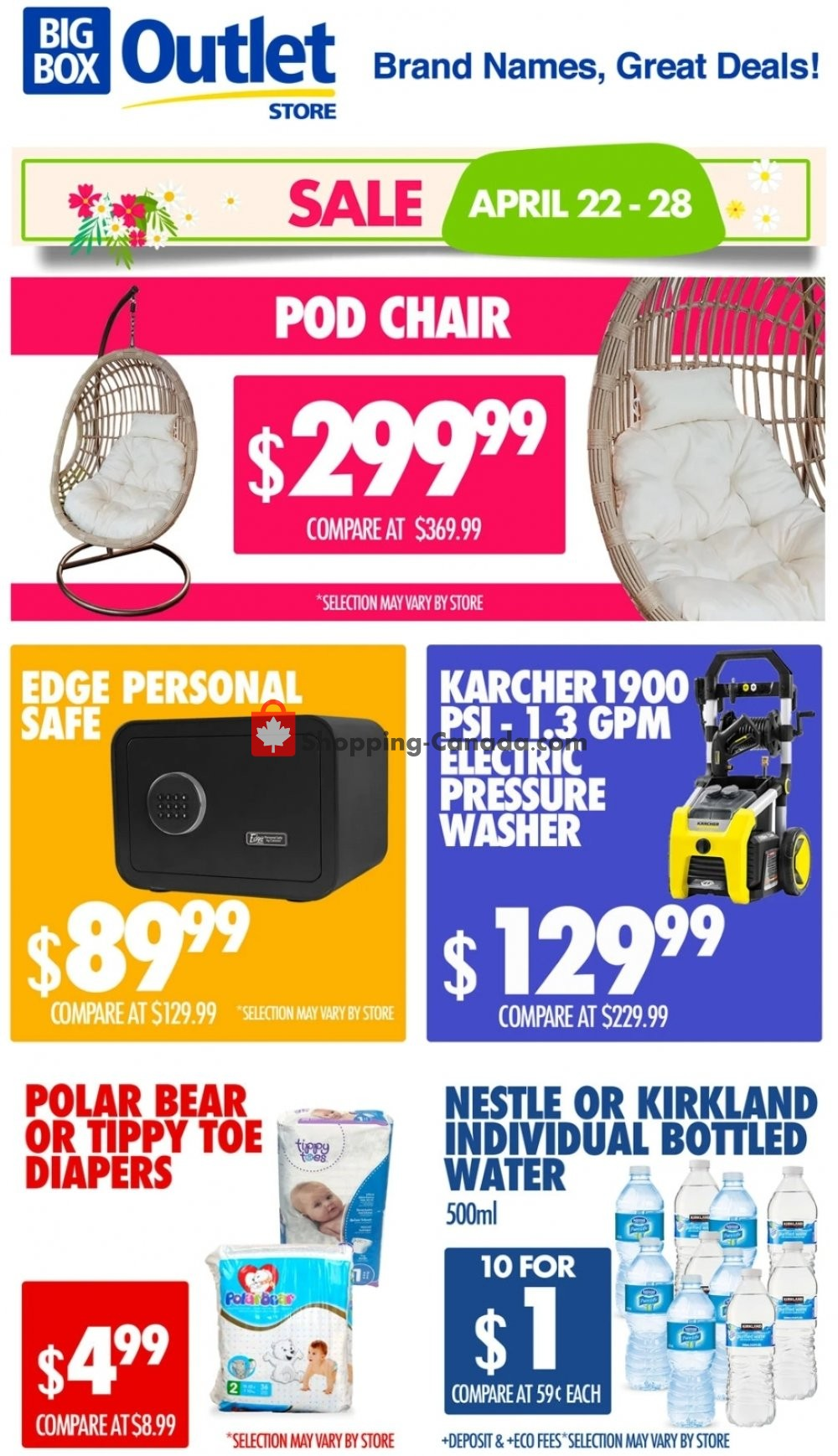 Flyer Big Box Outlet Store Canada - from Wednesday April 22, 2020 to Tuesday April 28, 2020