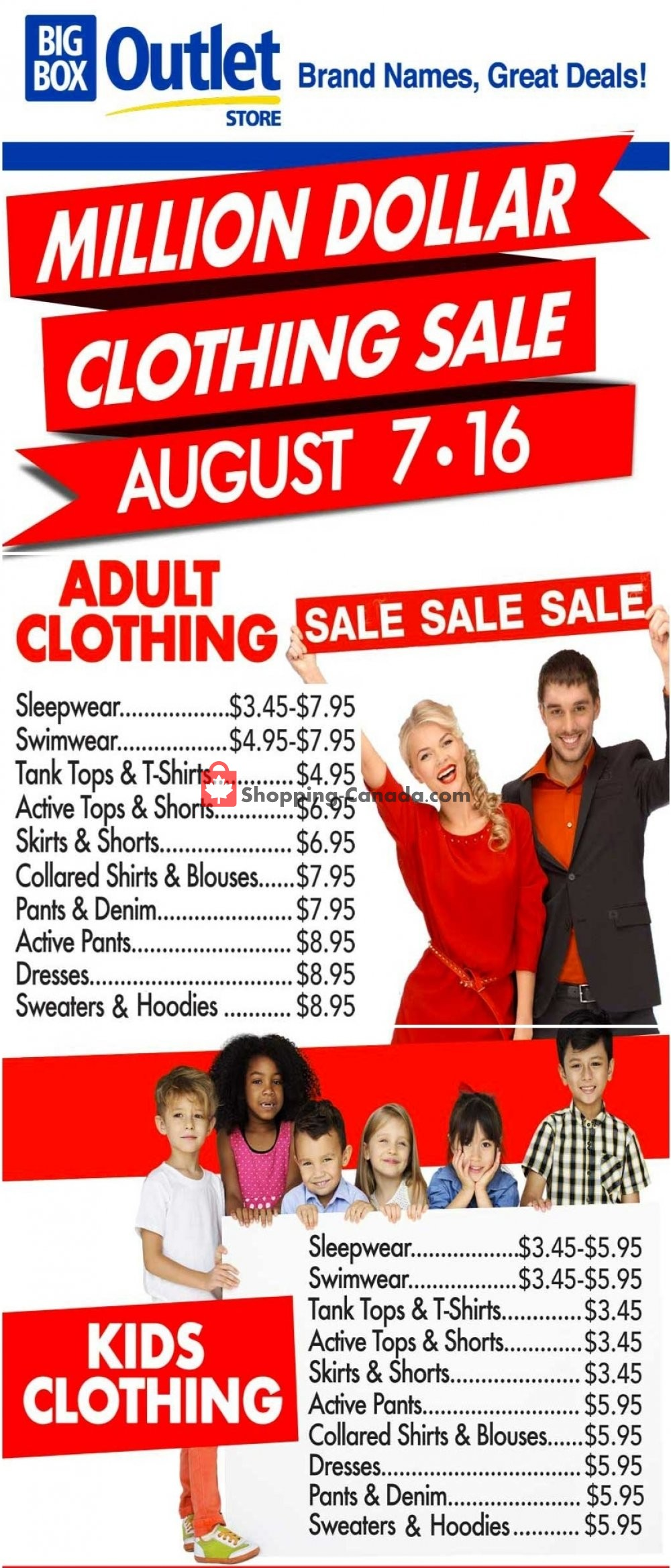 Flyer Big Box Outlet Store Canada - from Friday August 7, 2020 to Sunday August 16, 2020