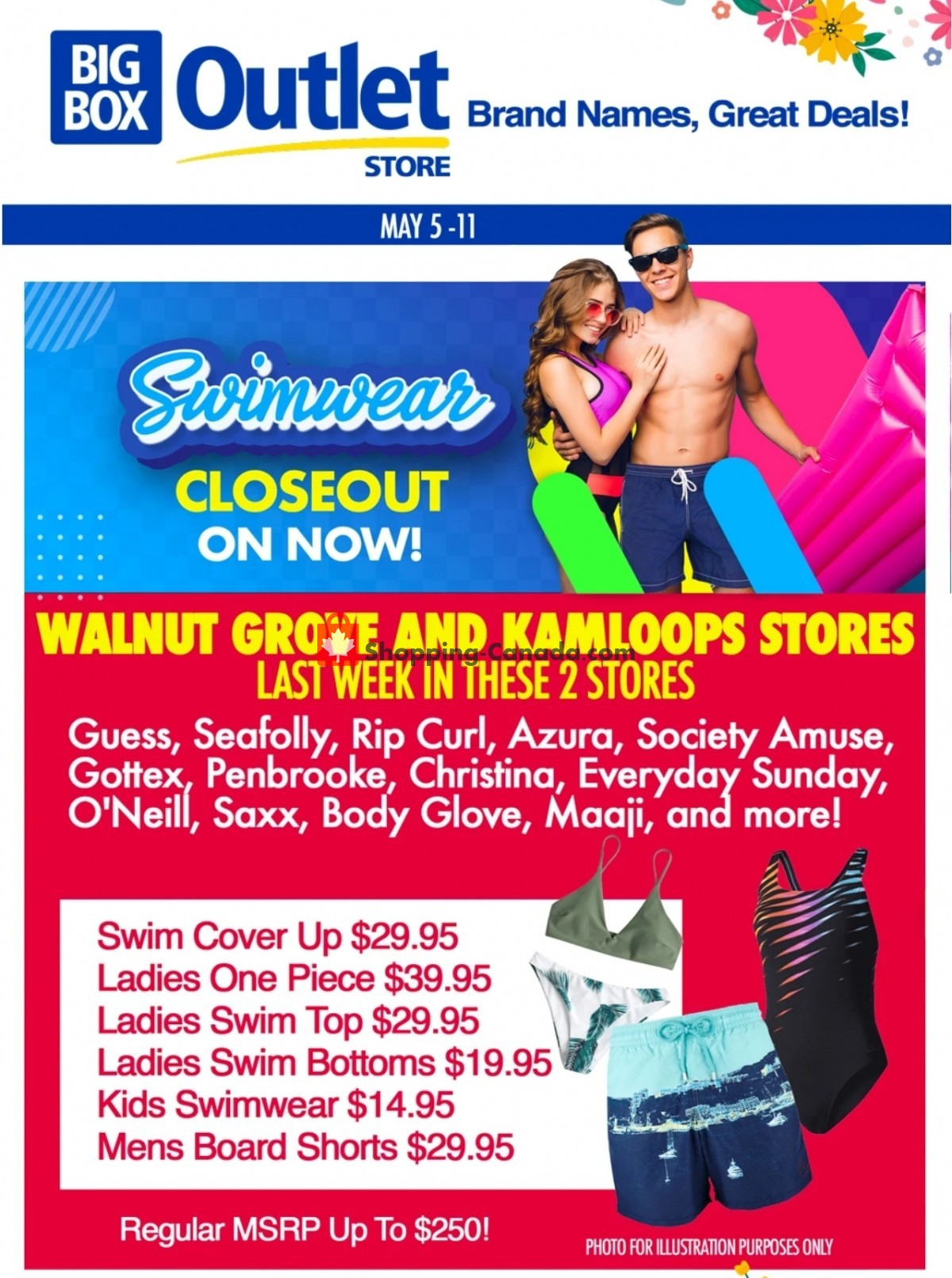 Flyer Big Box Outlet Store Canada - from Wednesday May 5, 2021 to Tuesday May 11, 2021