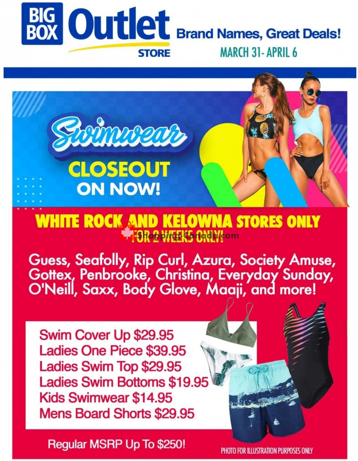 Flyer Big Box Outlet Store Canada - from Wednesday March 31, 2021 to Tuesday April 6, 2021