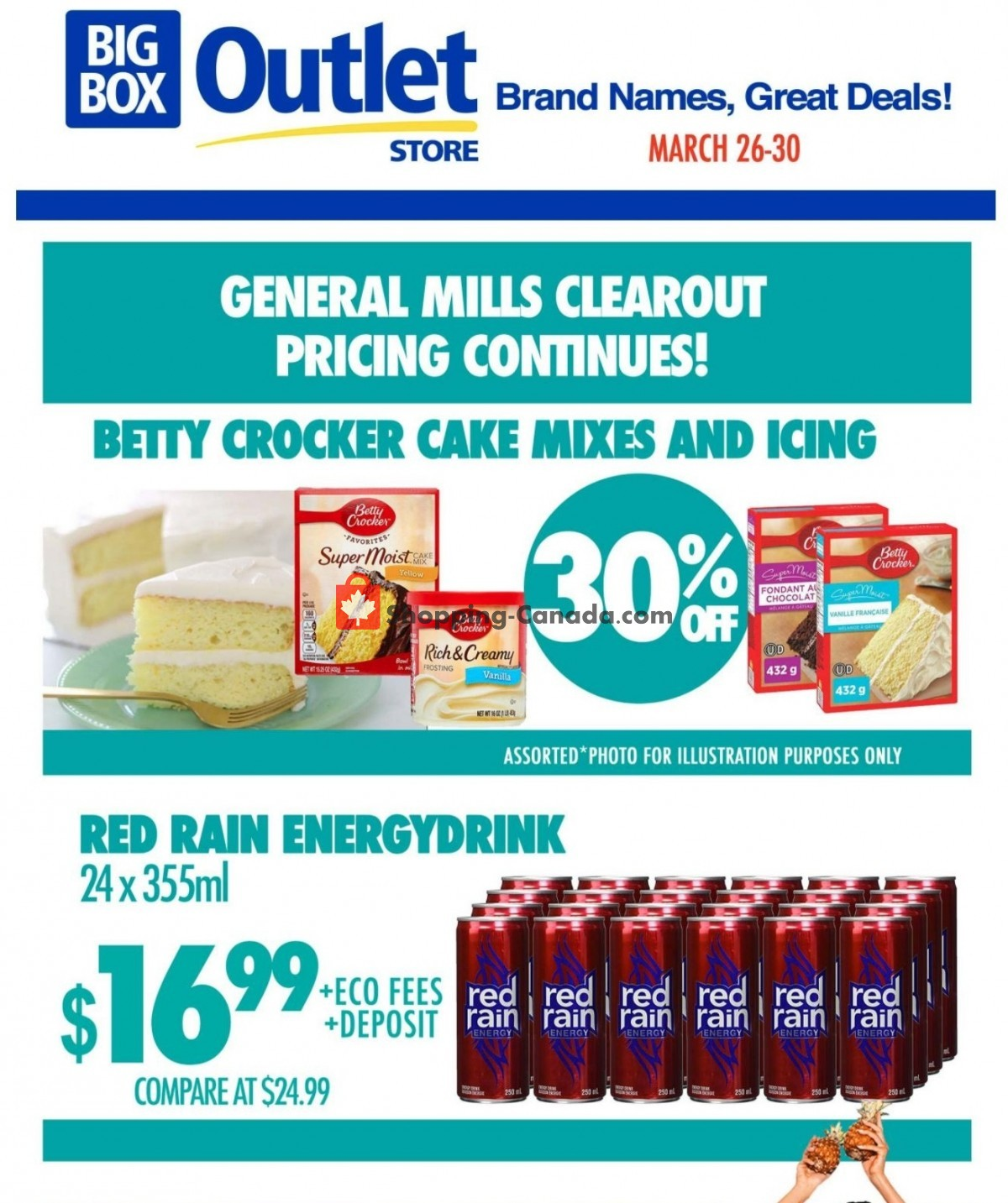 Flyer Big Box Outlet Store Canada - from Friday March 26, 2021 to Tuesday March 30, 2021