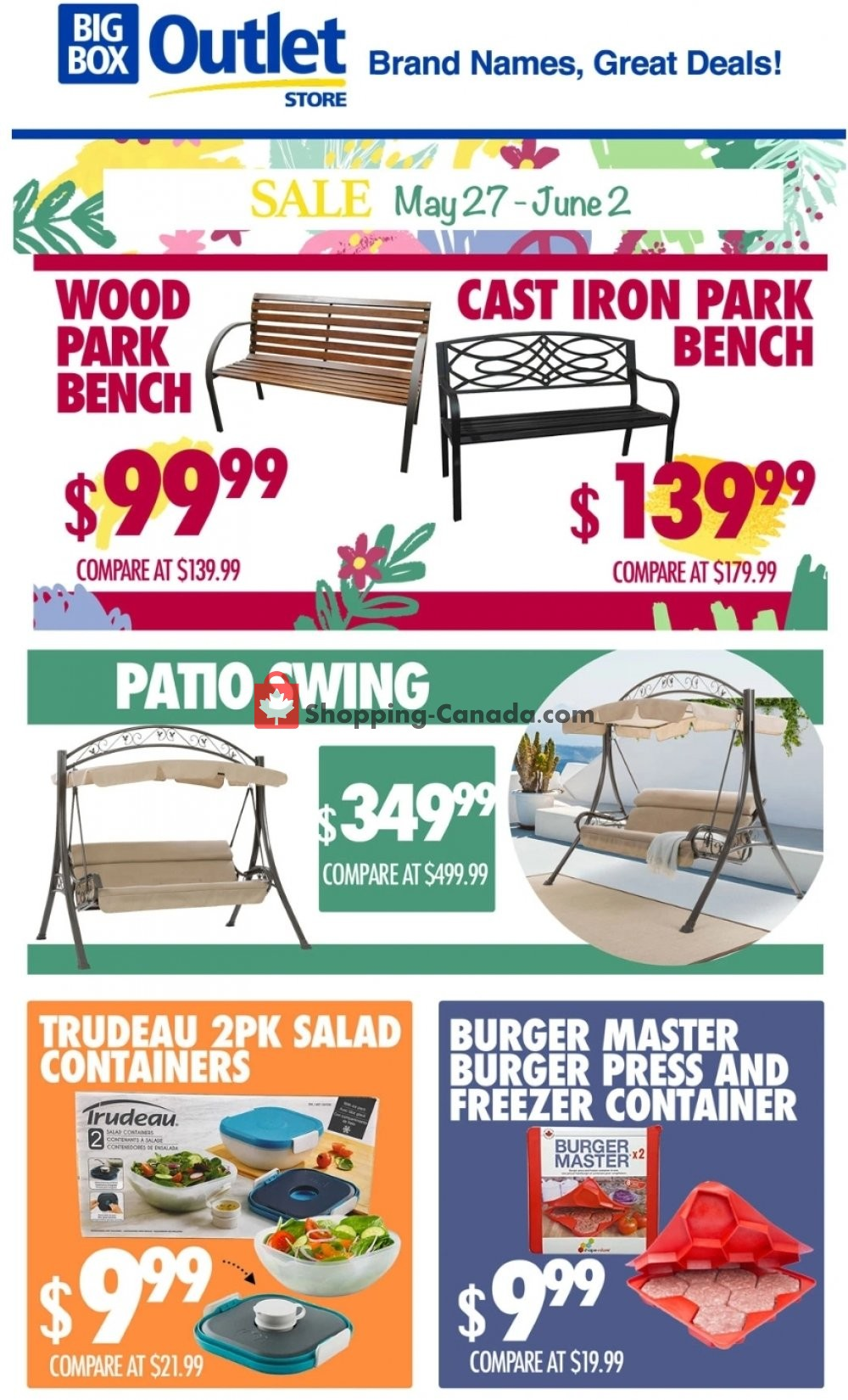 Flyer Big Box Outlet Store Canada - from Wednesday May 27, 2020 to Tuesday June 2, 2020