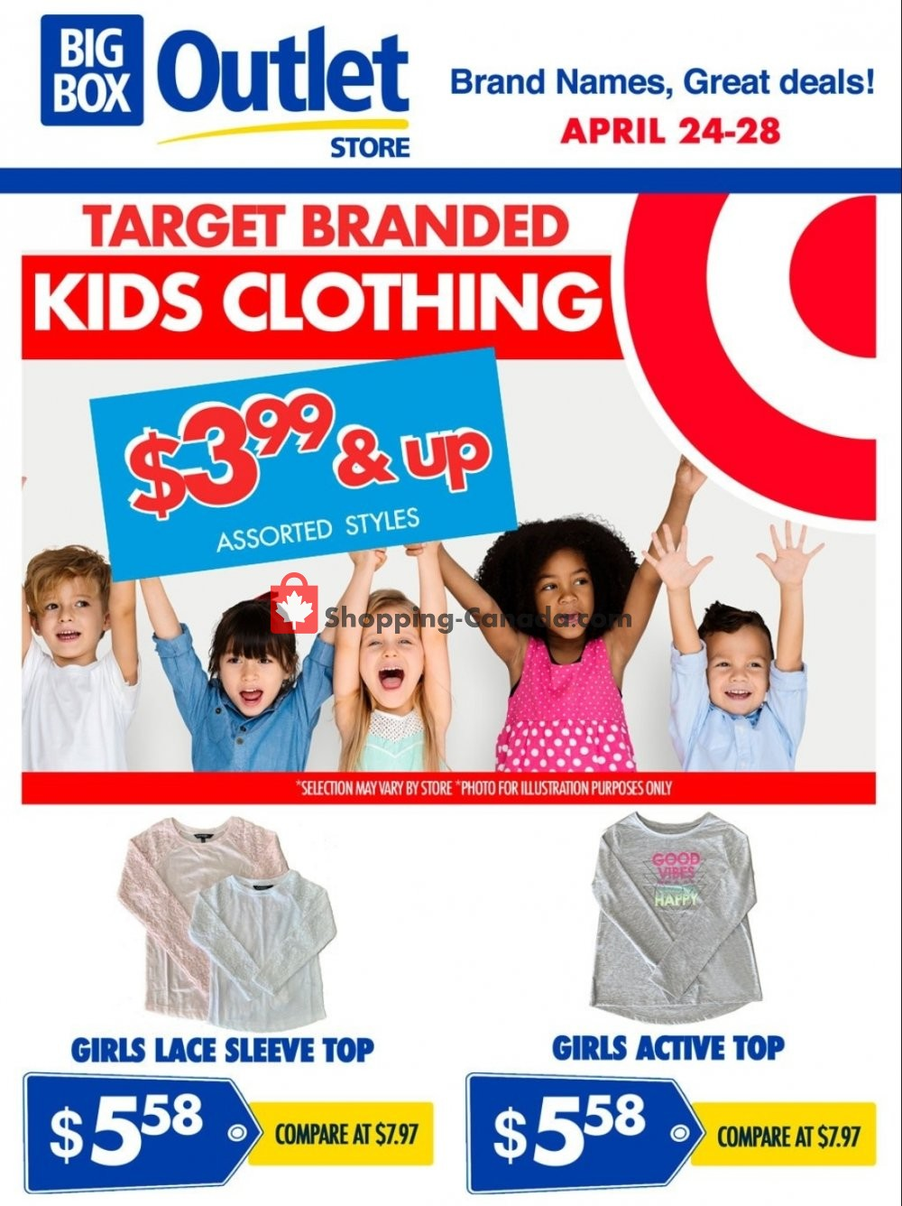 Flyer Big Box Outlet Store Canada - from Wednesday April 24, 2019 to Sunday April 28, 2019