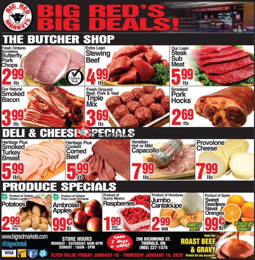 Flyer Big Red Markets Canada - from Friday January 10, 2020 to Thursday January 16, 2020