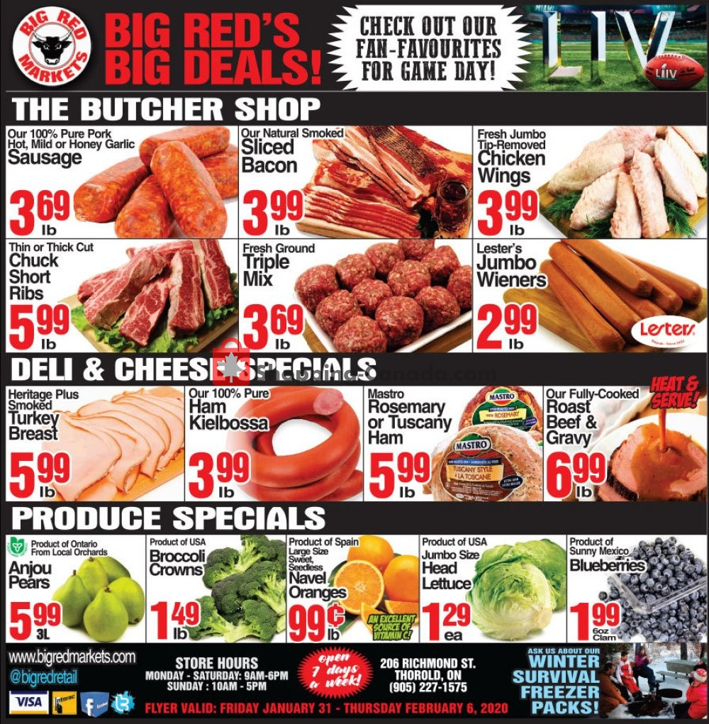 Flyer Big Red Markets Canada - from Friday January 31, 2020 to Thursday February 6, 2020
